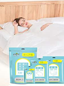 HUYA Disposable Bedding Single Set of 3 Suitable for Travel Business Hotel use Bed Linen Pillowcase Quilt Cover