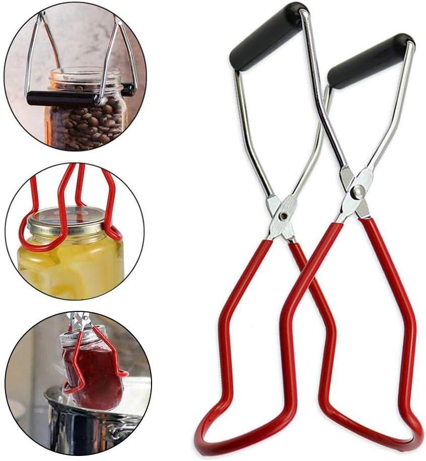 Pinzas elevadoras de tarros de conservas Elevador de tarros de acero inoxidable con otras herramientas Apertura f/ácil Kit de herramientas de elevaci/ón de tarros de enlatado de 5 piezas