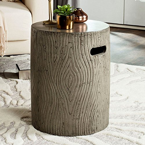 Luxe Trunk (Safavieh Outdoor Collection Trunk Modern Concrete Dark Grey Round 16.5-inch Accent Table)