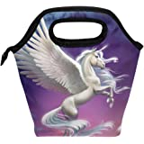 ALAZA Unicorn Kids Lunch Box Insulated Lunch Bag Large Freezable Lunch Boxes Cooler Horse Meal Prep Lunch Tote for Boys Girls