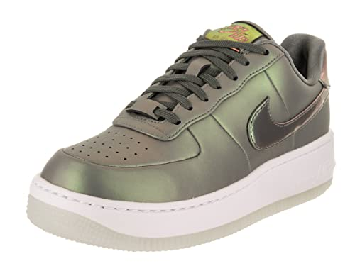 cheap for discount ab1c4 d5fe8 Nike Unisex Wmns Air Force 1 Upstep Zapatos Premium LX EN Cuero Verde  Brillante AA3964-001: Amazon.es: Zapatos y complementos