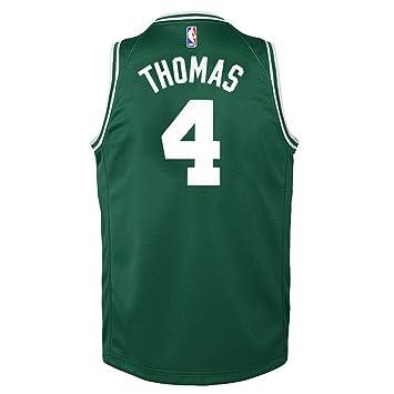 newest 44d17 55fd8 Nike Isaiah Thomas Boston Celtics Green Icon Swingman Jersey Youth (S-XL)