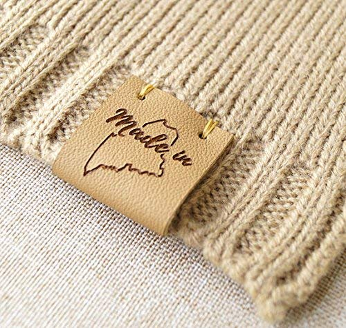 Amazoncom Folding Leather Labels Knitting Labels Personalized