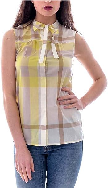 Burberry Mujer 3968617 Amarillo Algodon Camisa: Amazon.es: Ropa