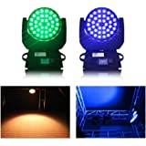 Happybuy 36 x 10W RGBW LED Moving Head Light 4 in 1 7colors Beam Spot DMX512 Stage Light For Dj Disco Club Party