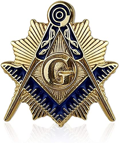 Masonic Past Masters Gold Plated Enamel Lapel Pin Badge In Gift Box