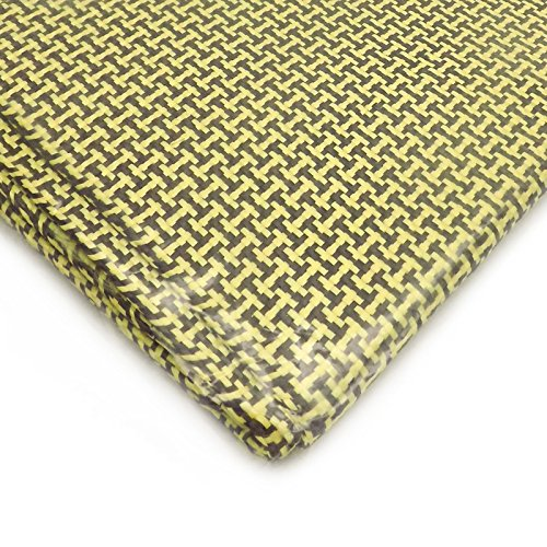 3K Carbon Fiber Aramid Fabric Cloth Sheet Woven 180g/m2 2000x500mm 6.5x1.5ft
