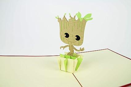 Kiri Kards Baby Groot – Tarjetas 3D desplegables, I Am Groot ...