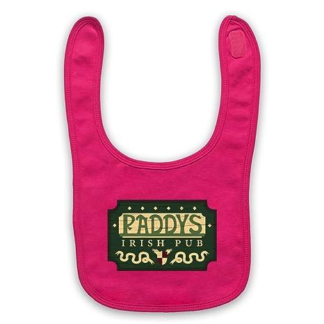 Cartel Irish Pub señal bebé babero rosa rosa: Amazon.es: Bebé