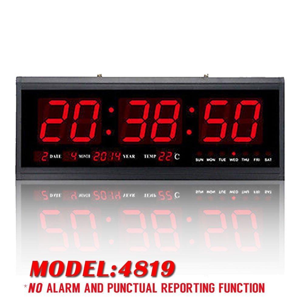 Yosoo Reloj Digital Grande LED con el Calendario la Fecha y la Temperatura Indicación Reloj de Escritorio (Verde): Amazon.es: Hogar