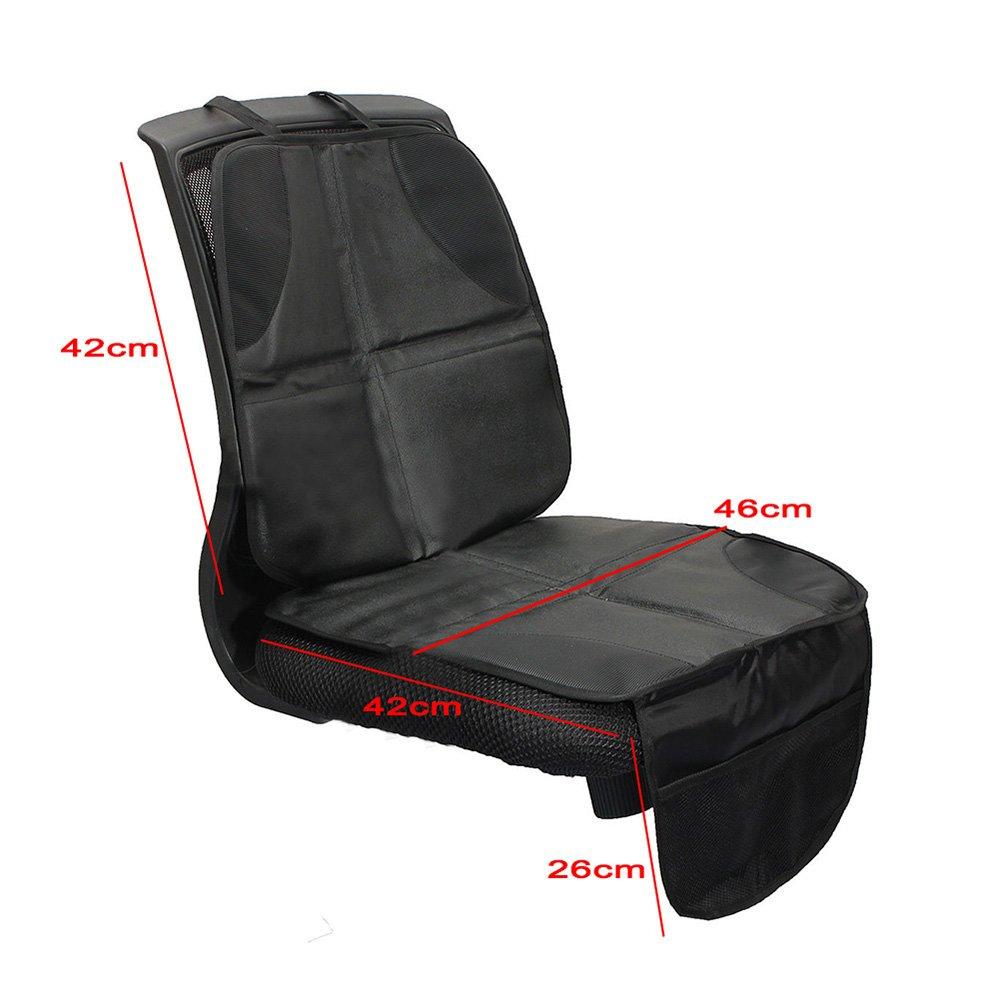 ZhongYeYuanDianZiKeJi 2Pcs Car Seat Protectors For Child Seats Car Seat Mat Anti-slip Safety Cushion Cover with Storage Pocket