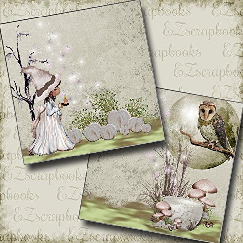 GOOD WITCH Non-Photo-Mat - Premade Scrapbook Pages - EZ Layout 2832 -