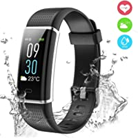 Smart Technic Fitness Tracker,Color Screen Activity Tracker Fitness Watch with Heart Rate Monitor,Waterproof IP68 Pedometer Step Counter Sleep Monitor Calorie Counter for Women Men for iOS Android