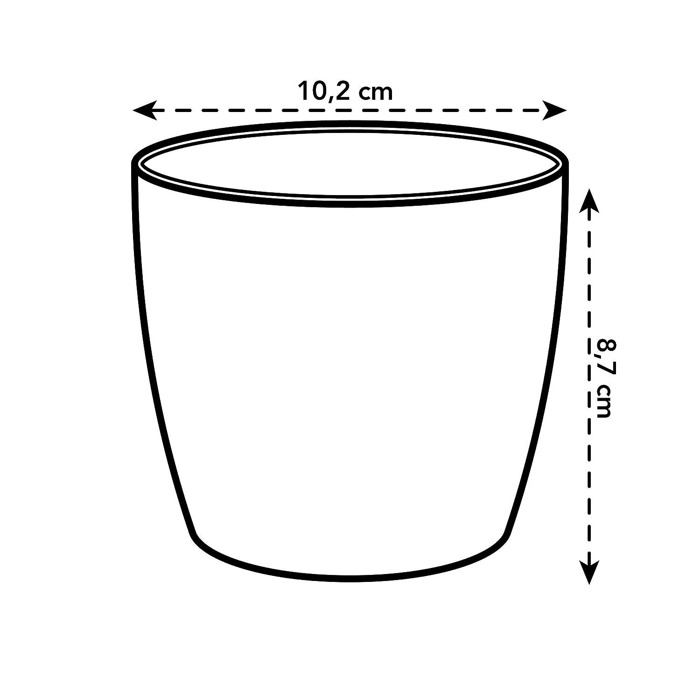 elho Brussels Round Mini Macetero 0.5 litros 8.7 X 8.7 X 0.05 cm Oro