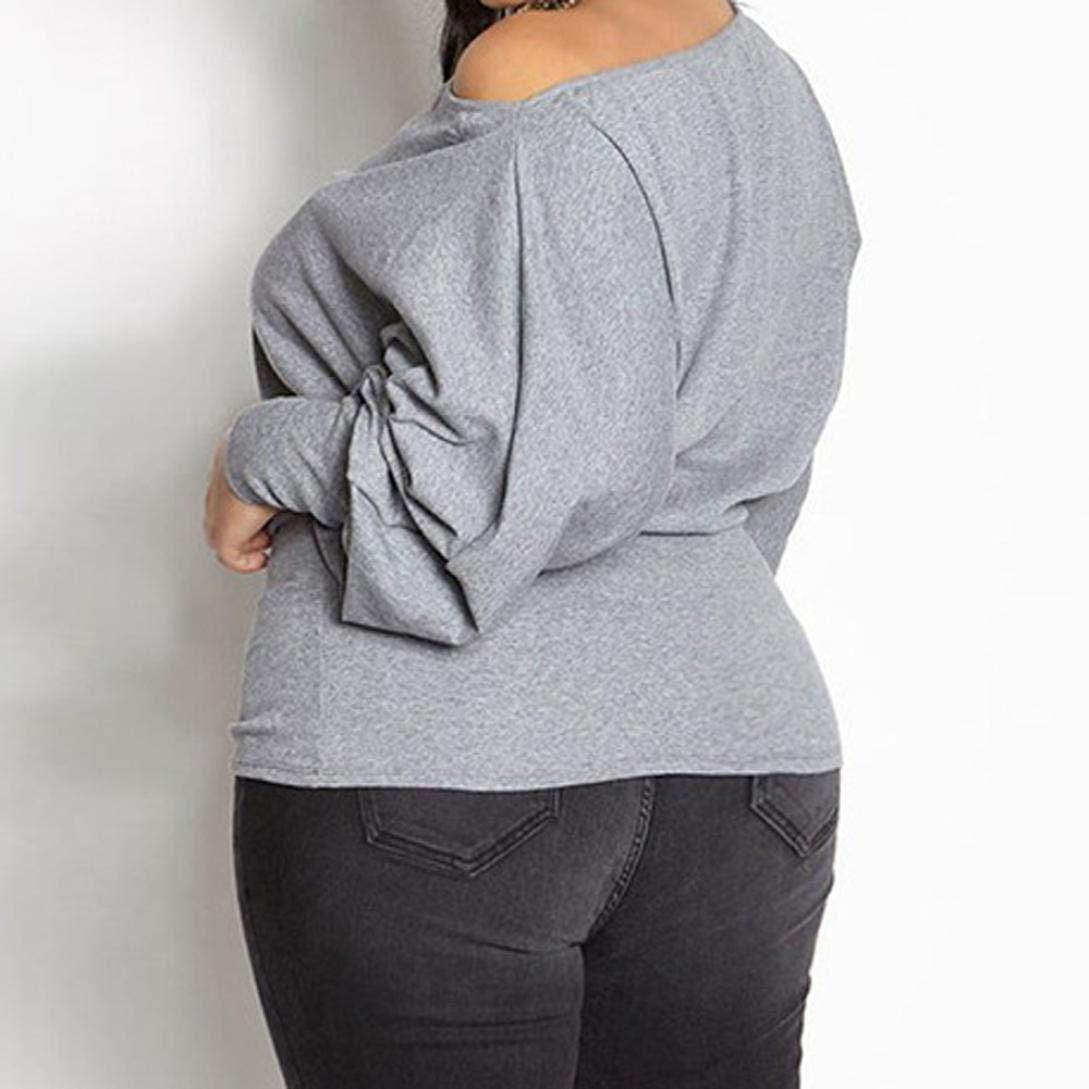 Owill - Blusa de manga larga para mujer, talla grande, sexy ...