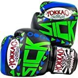 YOKKAO Sick Muay Thai Boxing Gloves Blue/Green - 16oz