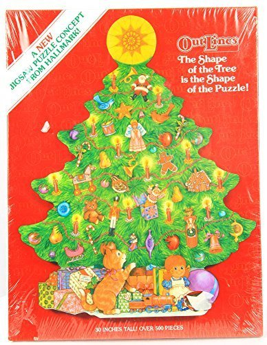 Christmas Tree-shaped 500-piece Hallmark Jigsaw Puzzle: