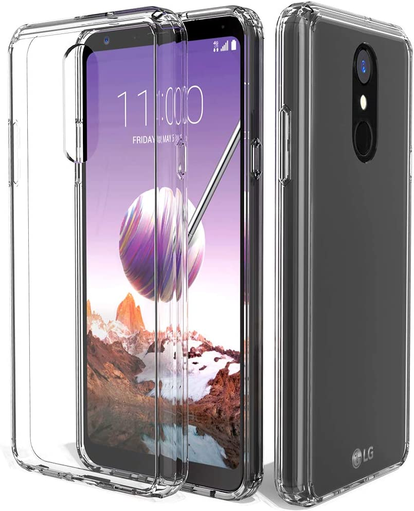 LG Stylo 4 Clear Case,LG Stylo 4 Plus Case,LG Q Stylus Case,ShinyMax Transparent Hybrid Armor Protective Cover Sturdy Shockproof Slim Case Compatible with LG Stylo 4
