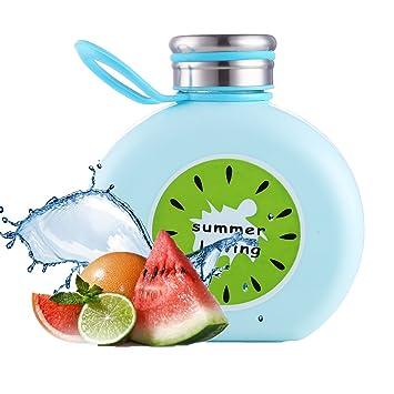 Botella de Vidrio de Frutas Oneisall con Dibujos Animados, Creativa Personalidad, Taza de Agua