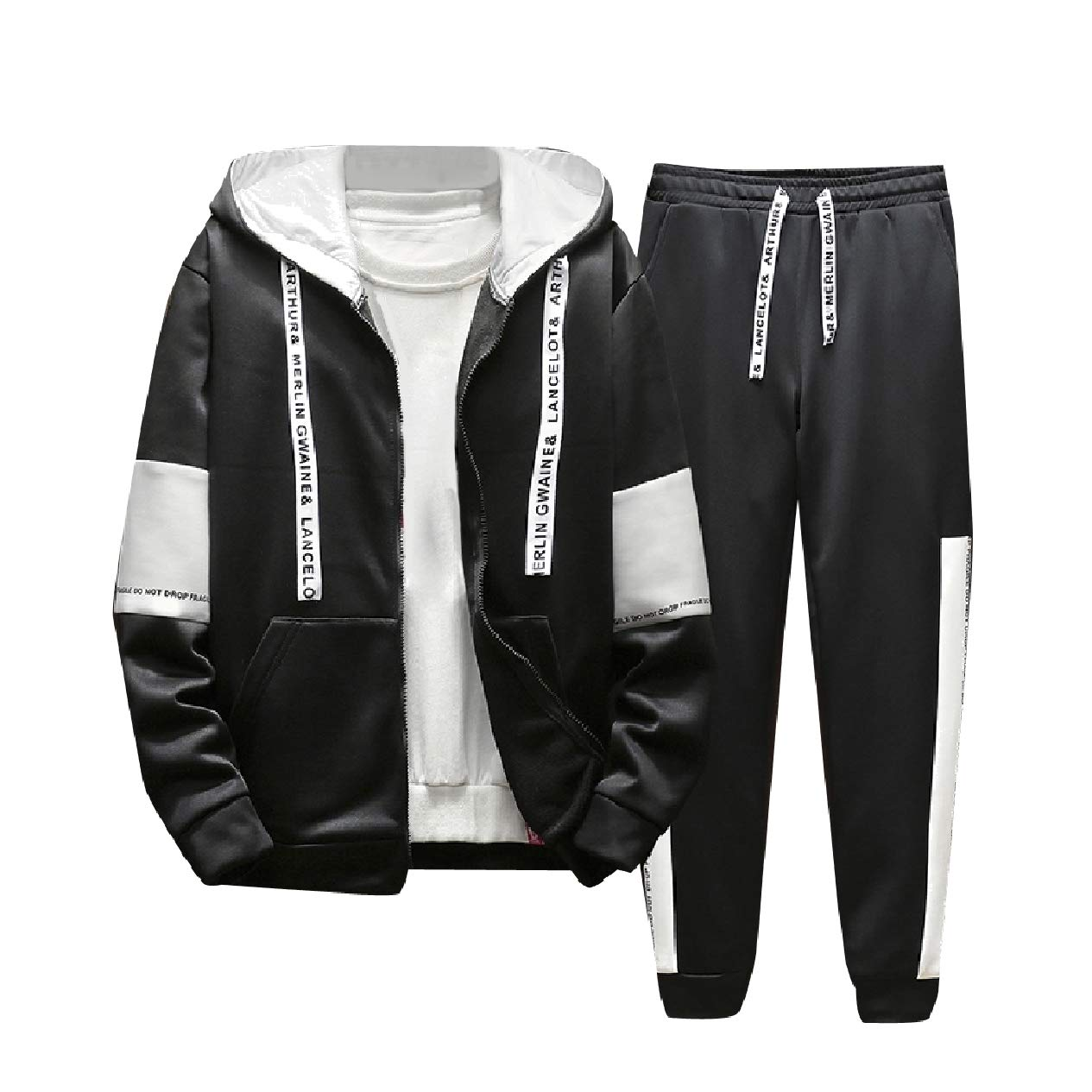 Tracksuits Tootca Womens Big Pocket Sports Color Block 2 Pieces Tracksuits Outfit Sports Apparel