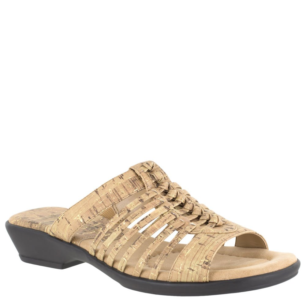 Easy Street Nola Women's Sandal 10 B(M) US Cork-Gold