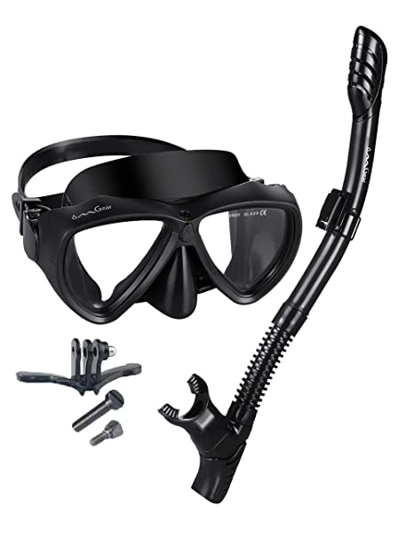 29a3a6fa472 Snorkel Set Snorkeling Gear Package Diving Set Silicone Dive Mask Snorkel  Equipment Goggles Anti-fog