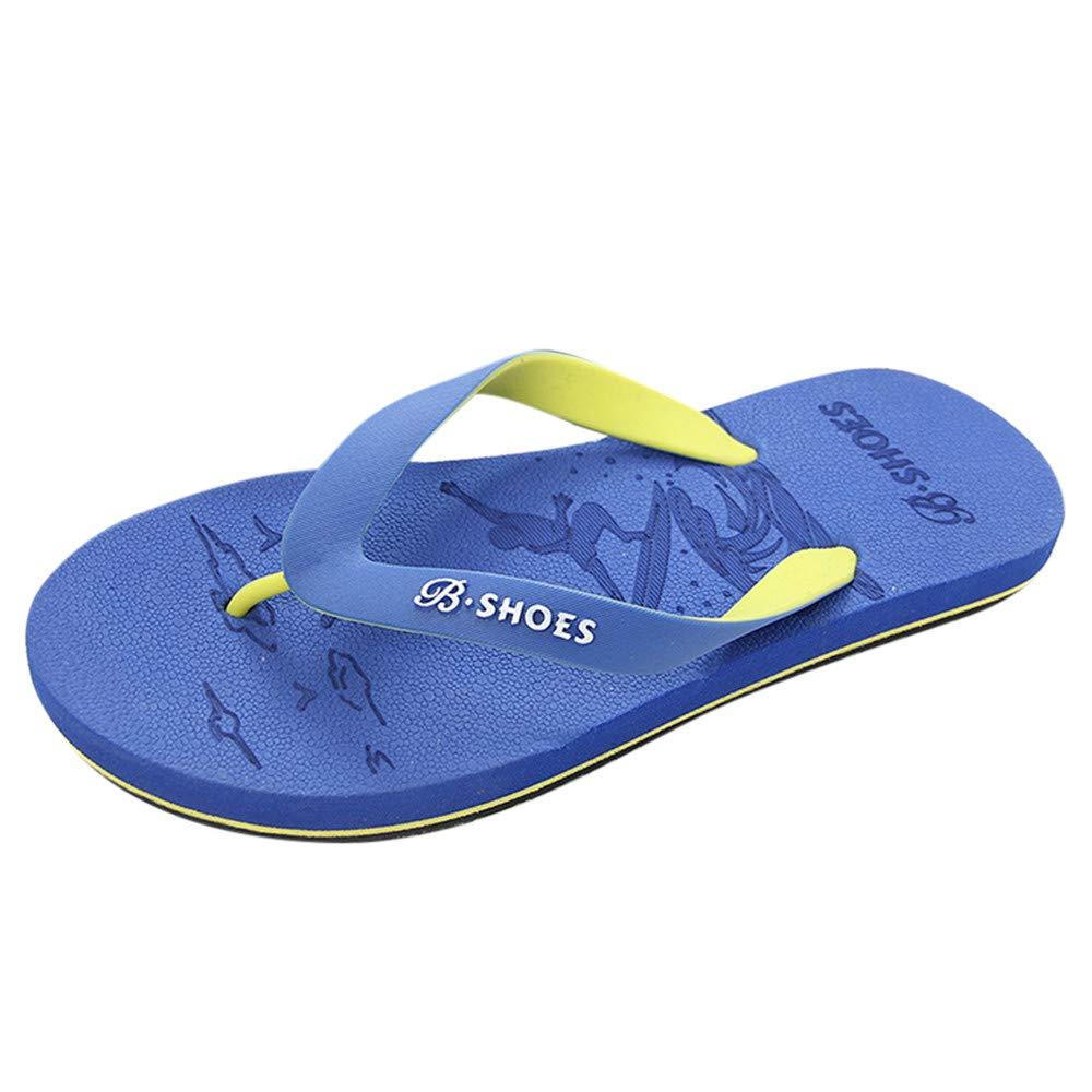 Summer Men Anti-Skidding Sandals Slipper Beach Shoes Blue