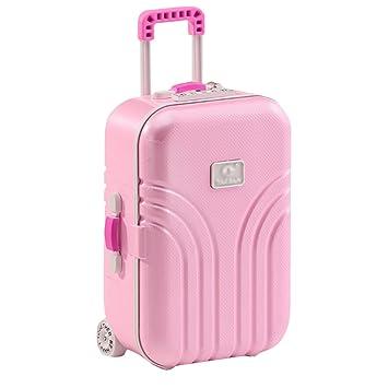 Caja de almacenamiento Meliya, forma de maleta, musical, creativa, para niñas, Rosa, talla única: Amazon.es: Hogar