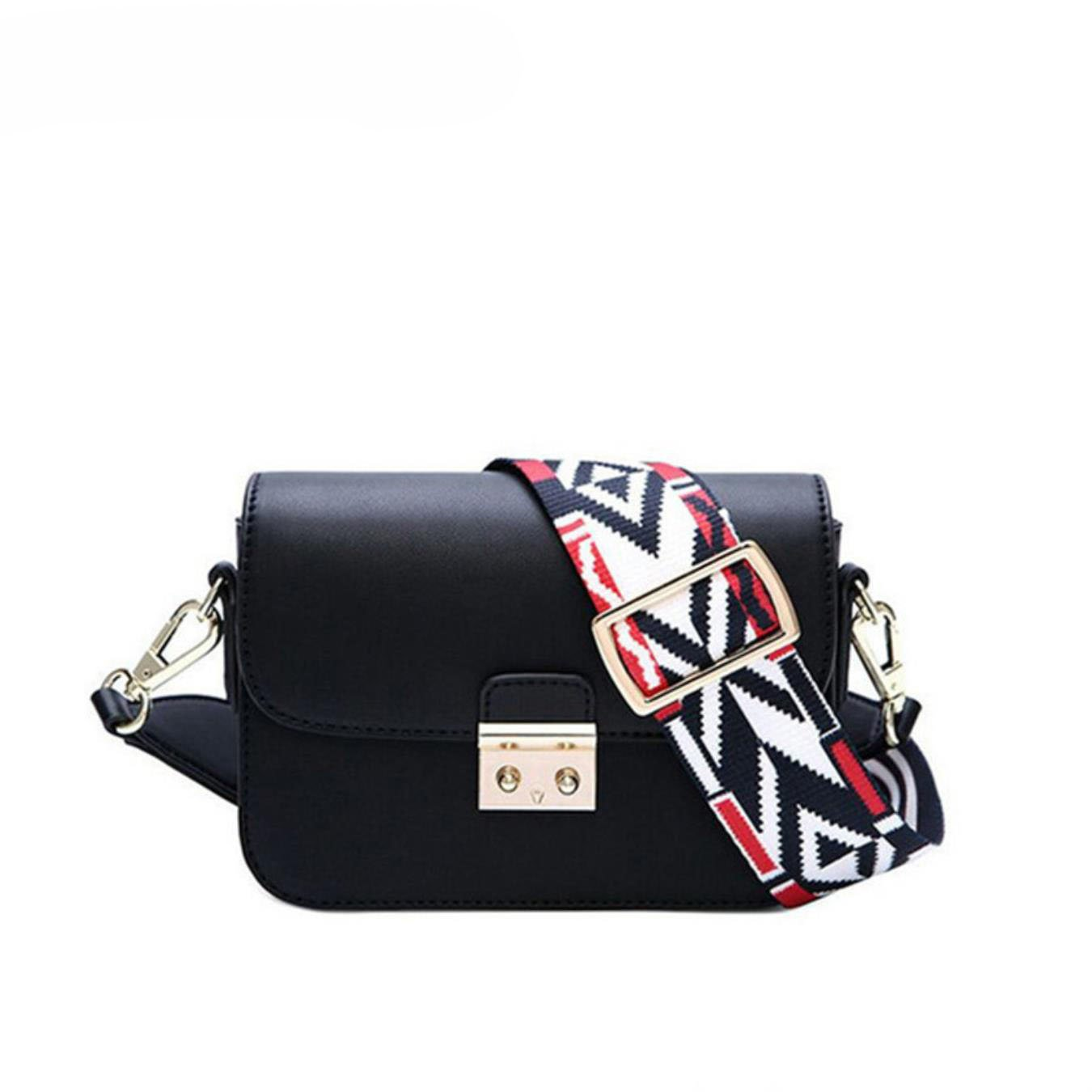 Amazon.com: Fashion Bag Crossbody Female Handbag Classic Colorful Wide Strap Messenger Bag Leather Lady Woman Shoulder Bags: Clothing
