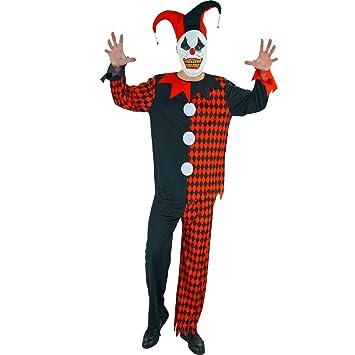 Sea Hare Joker negro y rojo para adultos Evil Harlequin ...