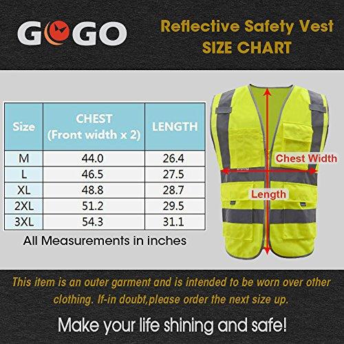 GOGO SECURITY 8 Pockets Hi Vis Safety Vest-Blue-L by GOGO (Image #1)