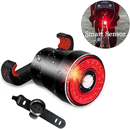 LED Bicycle Bike Cycling Rear Tail Light Lamp USB Rechargeable 4 Mode D3E