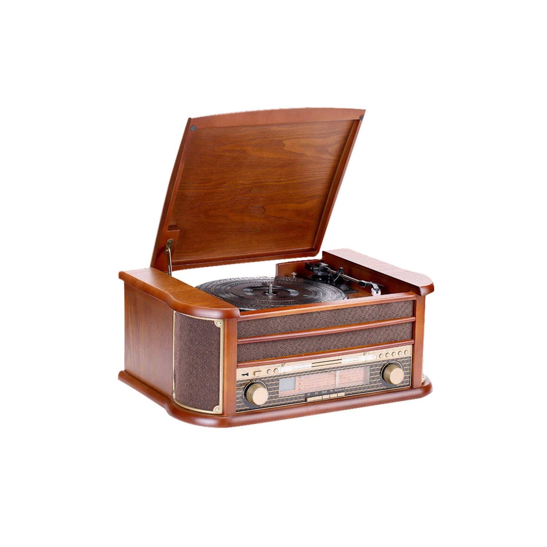 GOM Gramophone、Turntable Vinyl Record Player 33/45/78 RpmサポートUSBポートBluetooth再生CD再生音声出力GOM-012 (Color : Brown, Size : 51cm*35cm*21cm) B07T8RJB7J Brown 51cm*35cm*21cm