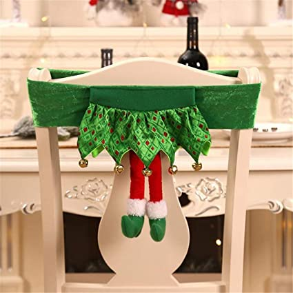 Peachy Hold High Christmas Decorations For Trees Merry Christmas Cute Non Woven Elf Chair Stool Cover Ornaments Dress Up For Thanksgiving Halloween Caraccident5 Cool Chair Designs And Ideas Caraccident5Info