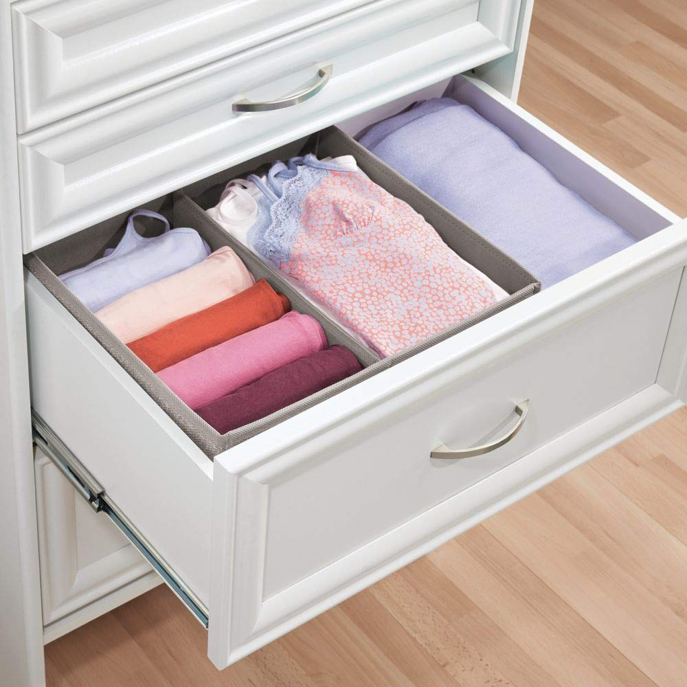 mDesign Juego de 2 caja para armario o cajón - Ideal como caja almacenaje para juguetes o como caja para guardar ropa - Son muy versátiles - Con dos ...