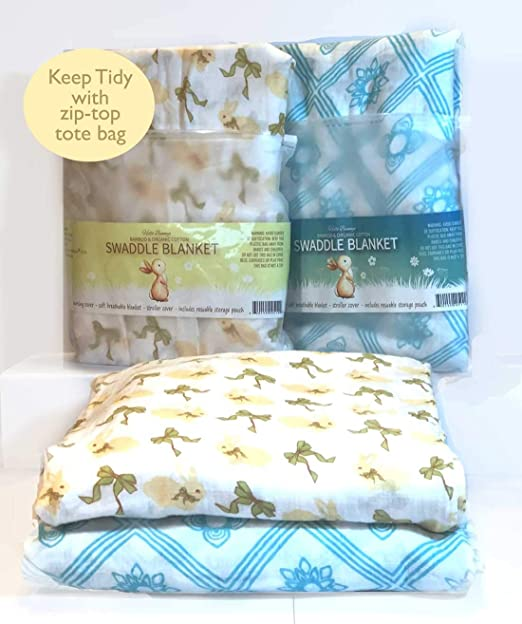 for Baby Girls Soft Receiving Blankets Muslin Bamboo Swaddle Blanket Set of 3