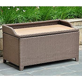 Superb This Item Wicker Resin/Aluminum Patio Bench With Storage
