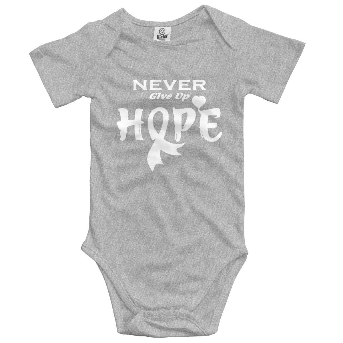 HUCON Lung Cancer Awareness Infant Baby Jumpsuit Bodysuit Romper Cotton Clothes