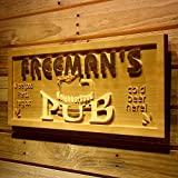 """AdvPro Wood Custom wpa0056 Name Personalized Neighborhood Pub Cold Beer Wood Engraved Wooden Sign - Standard 23"""" x 9.25"""""""