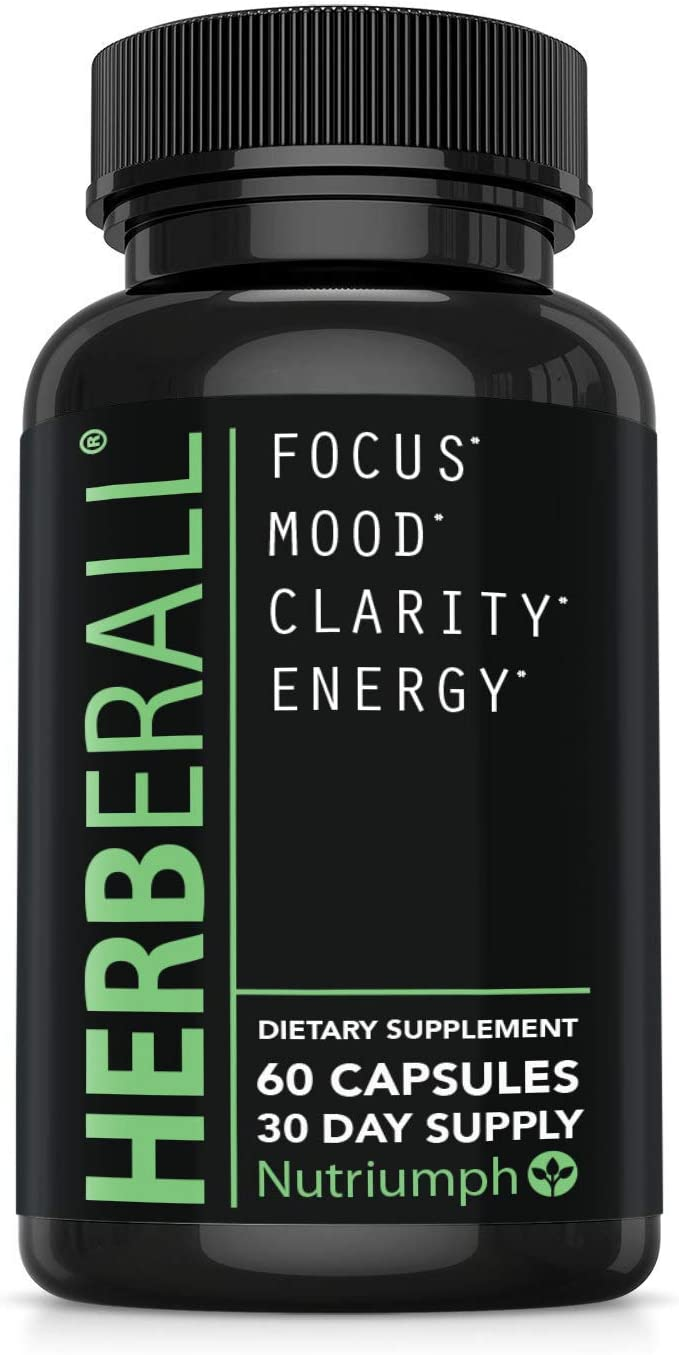 HERBERALL Powerful Brain Supplement, All Natural Nootropic, Boost Focus, Memory, Enhance Mental Clarity, Support Mood, Concentration and Energy, Improve Cognitive Performances