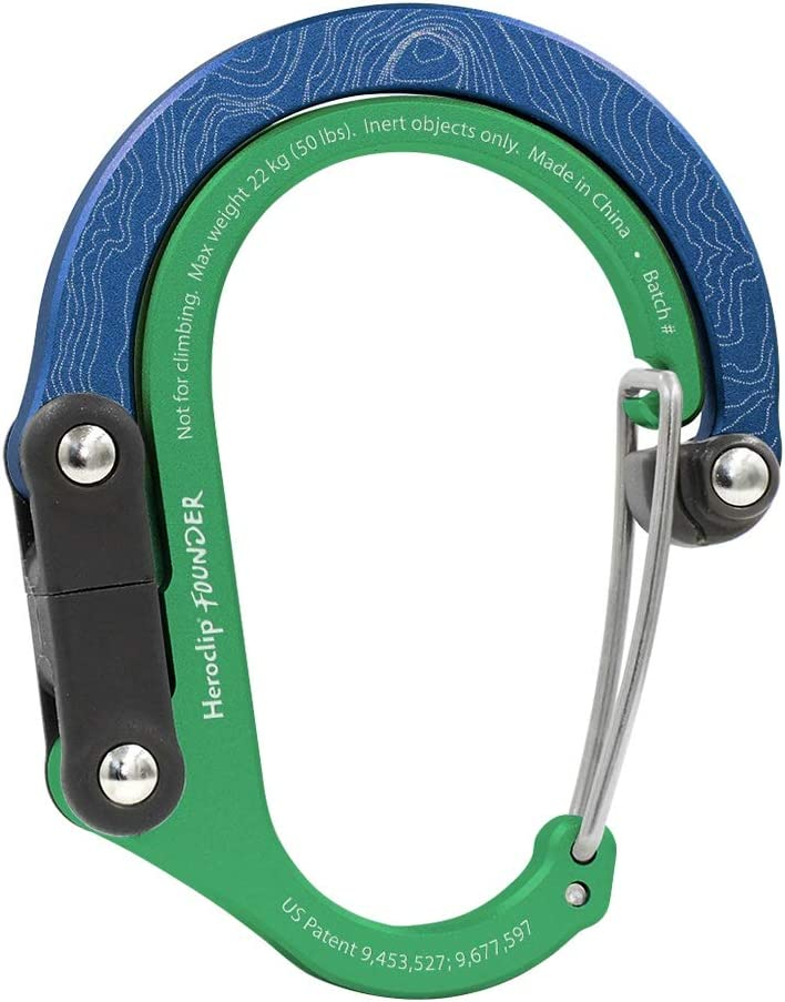- Hang Anything Small Anywhere HEROCLIP Carabiner Clip with Swivel Hook