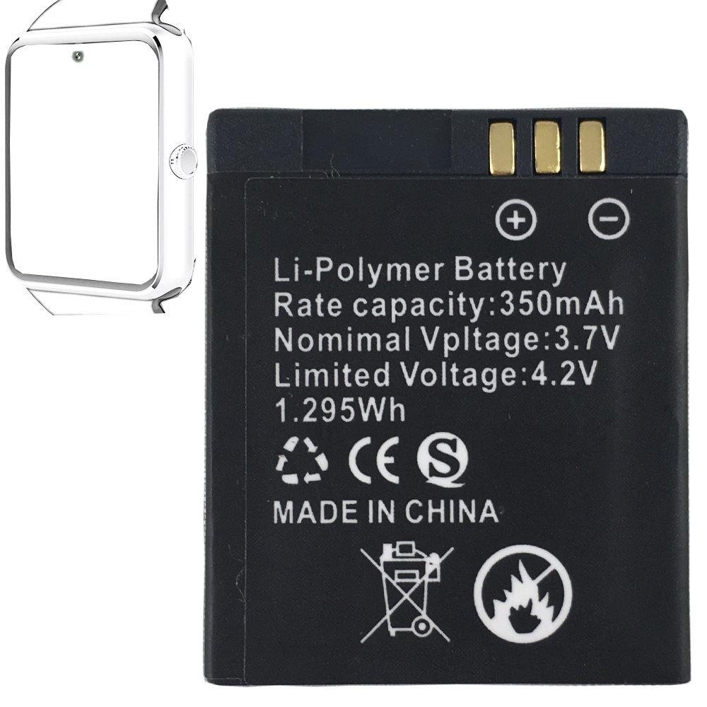 Amazon.com: Smart watch battery 360MAH rechargable lithium ...