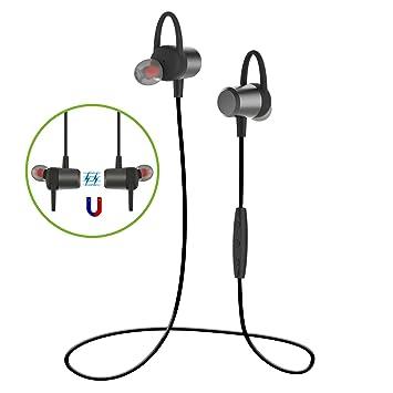 Auricular magnético MixcMax Auriculares Bluetooth 4.1 Cascos inálambrico Deportivos, Deportes al Aire Libre para iPhone7, Sony, HUAWEI, Samsung, ...