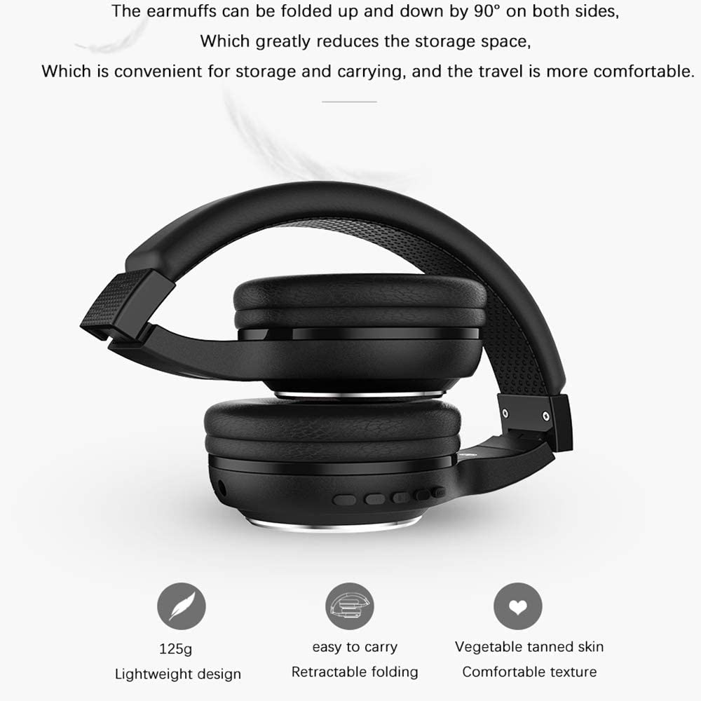 GOUP Headphones, wired premium stereo headphones with 40mm drive, foldable comfort headphones with protein earmuffs and shared monitor podcast for recording PC TV,Black Blue