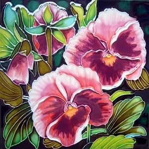 Centro de Arte Continental bd-21828por cm dos rosa de cerámica decorativo, diseño de pensamientos