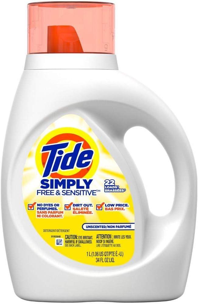 TIDE Detergent Simply Free & Sensitive 34 OZ