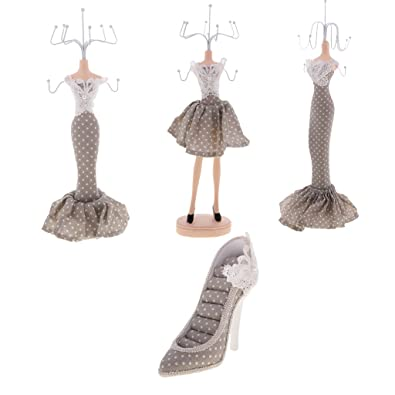 Amazoncom Baosity 4 Pieces Mermaid Mannequin Jewelry Organizer