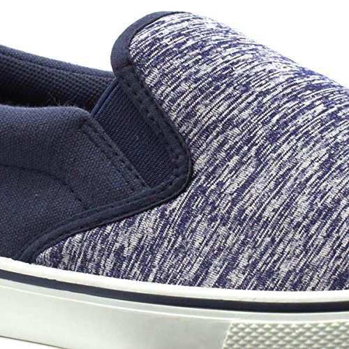 Red Fish Mens Slip On Canvas Shoe in Navy Blue NizMt8SOJQ