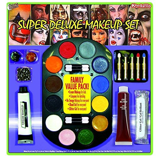 Halloween Eyeshadow Makeup Tutorial (Super Jumbo Value Deluxe Family Makeup Kit; Halloween)