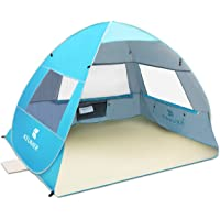 SGODDE Large Pop Up Beach Tent 2019 New Anti UV Sun Shelter Tents Portable Automatic Baby Beach Tent Instant Easy…